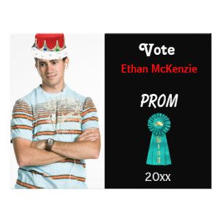 Vote me for Prom King (Aqua) Full Color Flyer