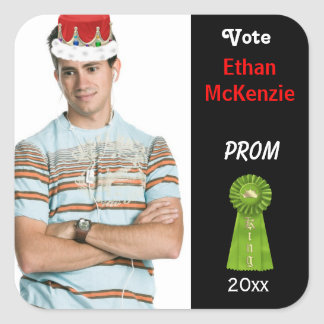 Vote me for Prom King (Green) Square Sticker