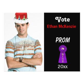 Vote me for Prom King (Purple) Custom Flyer