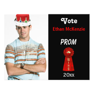 Vote me for Prom King (Red) Custom Flyer