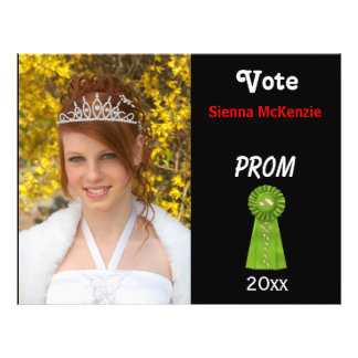 Vote me for Prom Queen (Green) Flyers