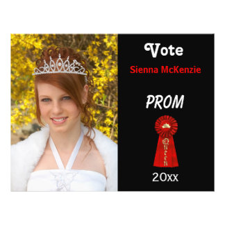 Vote me for Prom Queen (Red) Flyers