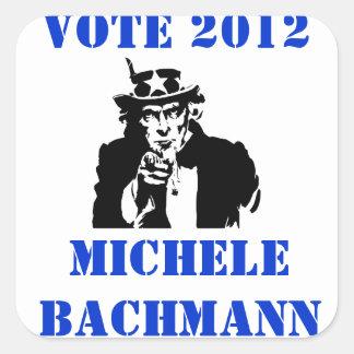 VOTE MICHELE BACHMANN 2012 SQUARE STICKER