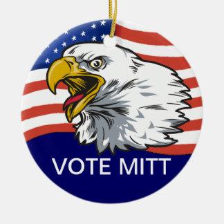 Vote Mitt - Patriotic Eagle Ceramic Ornament