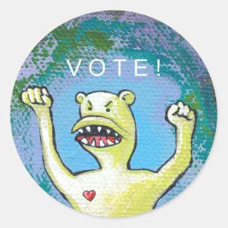 Vote Monster Sticker - You must vote!