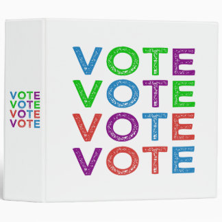 VOTE Multi-colored 3 Ring Binder