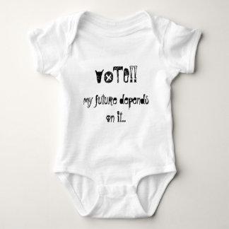 VOTE!!, my future depends on it... Baby Bodysuit