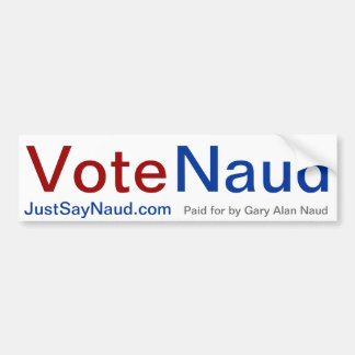 Vote Naud Bumper Sticker