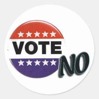 Vote No! Classic Round Sticker