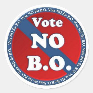 Vote No for B.O. Classic Round Sticker