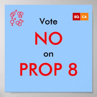 Vote NO on PROP 8 Poster