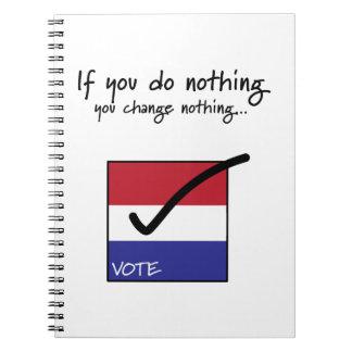 Vote! Note Books