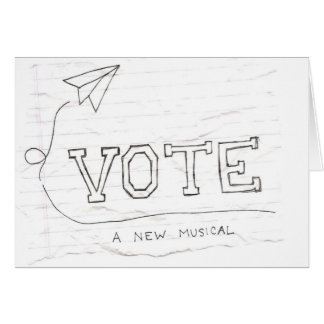 VOTE Notecards Card