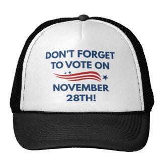 Vote November 28th Trucker Hat