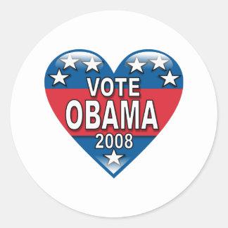 Vote Obama 2008 Round Stickers