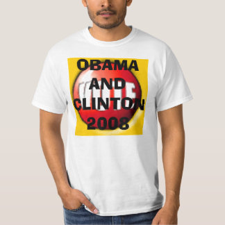 VOTE, OBAMA AND CLINTON 2008 SHIRTS