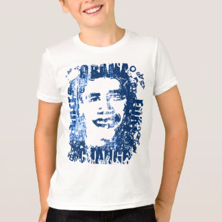 """Vote Obama for Change"" vintage-look ball T. T-Shirt"