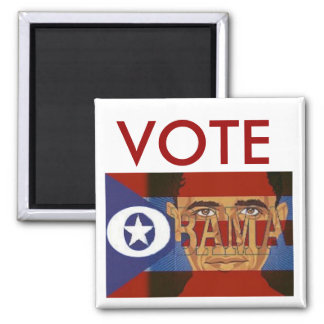 Vote Obama Square Magnet