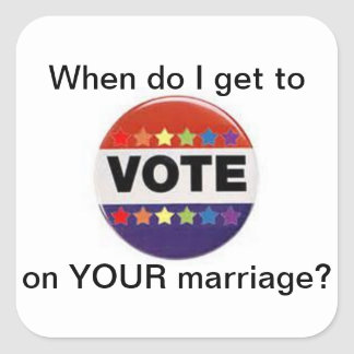 vote on marriage equality sticker