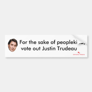 Vote Out Justin Trudeau Bumper Sticker
