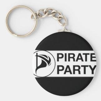 Vote Pirate Party Keychain