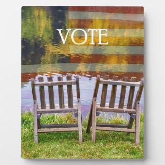 VOTE PLAQUE