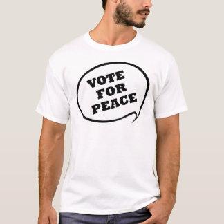 Vote pour la paix t-shirt