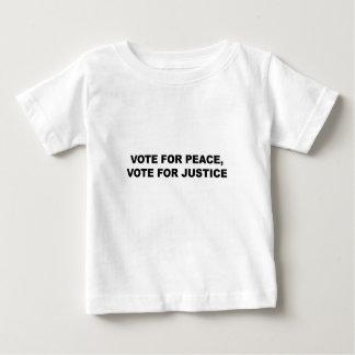 VOTE POUR LA PAIX, VOTE POUR LA JUSTICE T-SHIRT POUR BÉBÉ
