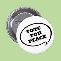 Vote pour le bouton de paix boutons publicitaires