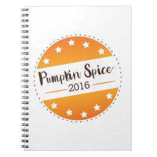 Vote Pumpkin Spice Spiral Notebooks