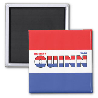 Vote Quinn 2010 Elections Red White and Blue Square Magnet