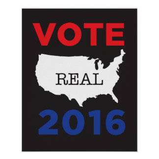 Vote Real America 2016 Poster