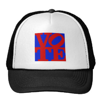 VOTE (red on blue and green) Trucker Hat