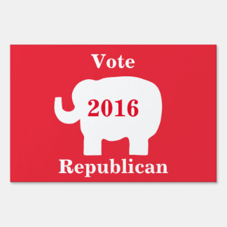 Vote Republican Election 2016 Red Elephant Sign