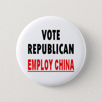 Vote Republican Employ China 2 Inch Round Button