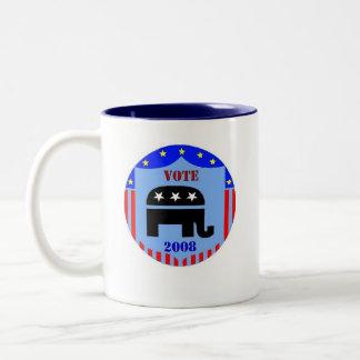 VOTE REPUBLICAN IN 2008 COFFEE MUG POLITICS