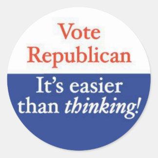 VOTE REPUBLICAN ROUND STICKER