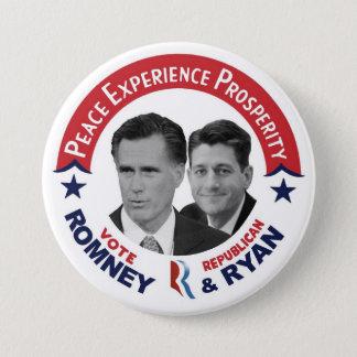 Vote Republican Vote Romney & Ryan 3 Inch Round Button