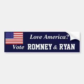 Vote Romney Ryan Bumper Sticker