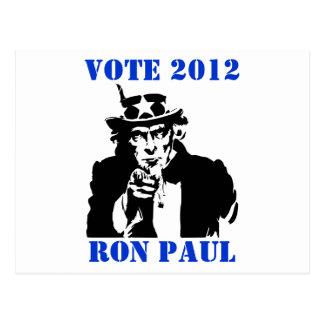 VOTE RON PAUL 2012 POSTCARD