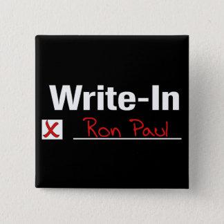 VOTE RON PAUL 2 INCH SQUARE BUTTON