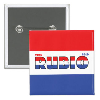 Vote Rubio 2010 Elections Red White and Blue 2 Inch Square Button