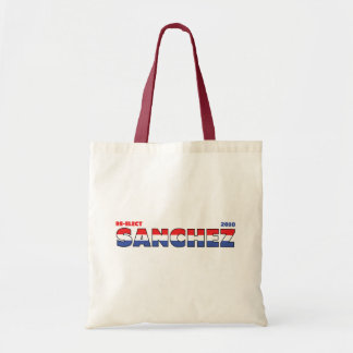 Vote Sanchez 2010 Elections Red White and Blue Budget Tote Bag