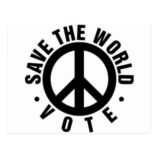 VOTE! Save the World Postcard