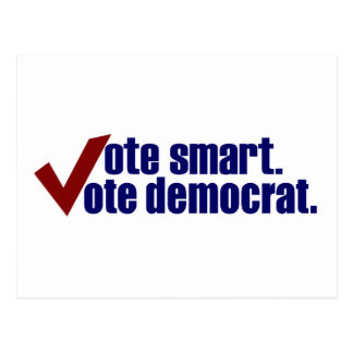 Vote Smart Vote Democrat Postcards