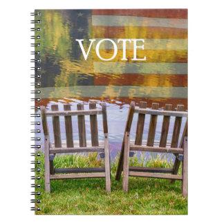 VOTE SPIRAL NOTEBOOK