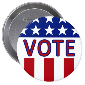 Vote Stars and Stripes Button