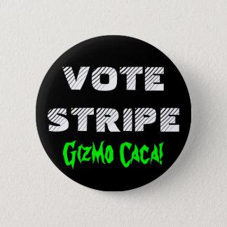 VOTE STRIPE 2 INCH ROUND BUTTON