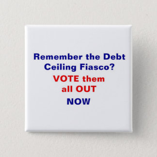 Vote them all out now 2 inch square button