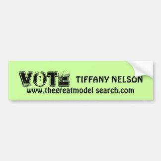 VOTE TIFFANY NELSON AUTOCOLLANT DE VOITURE